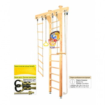 Шведская стенка Kampfer Wooden Ladder Ceiling Basketball Shield