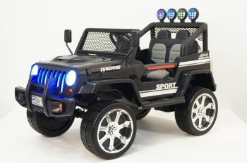 Электромобиль RiverToys JEEP T008TT (черный)